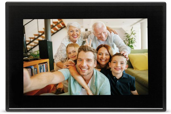 "Digitaler Bilderrahmen DENVER PFF-1011, 25,4 cm (10""), schwarz - Produktbild 2"