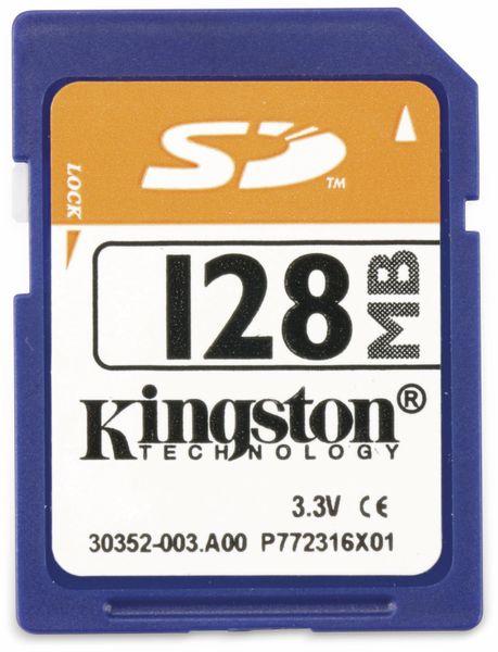 SD-Speicherkarte KINGSTON, 128 MB
