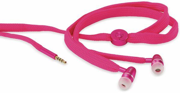 Headset LOGILINK HS0026 STRING, Ohrhörer, 3,5mm Klinke, pink