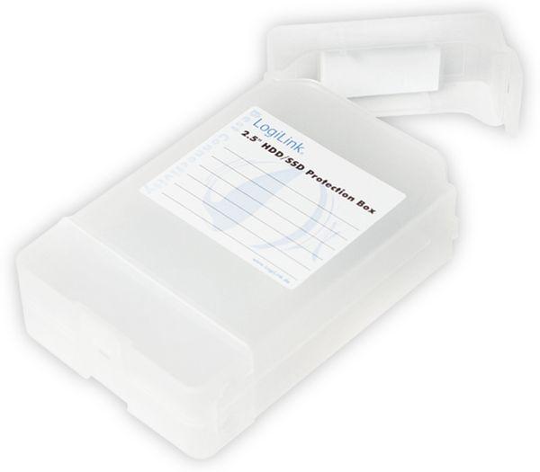 "Festplatten-Schutzbox LOGILINK UA0277, 2x 2,5"", transparent - Produktbild 1"