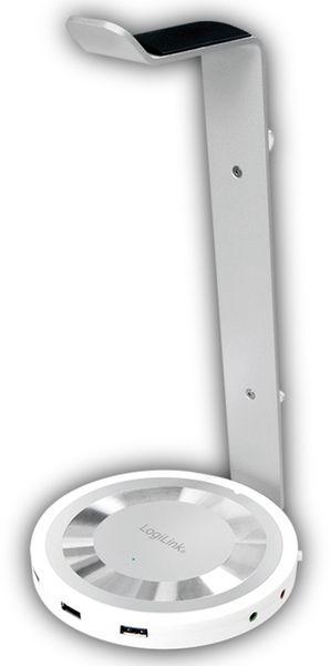 Headset-Ständer LOGILINK UA0304, 3x USB 3.0, Aluminium