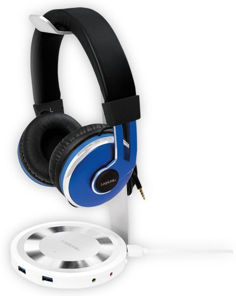 Headset-Ständer LOGILINK UA0304, 3x USB 3.0, Aluminium - Produktbild 3