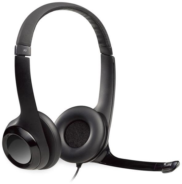 Headset LOGITECH H390, USB, Stereo, schwarz