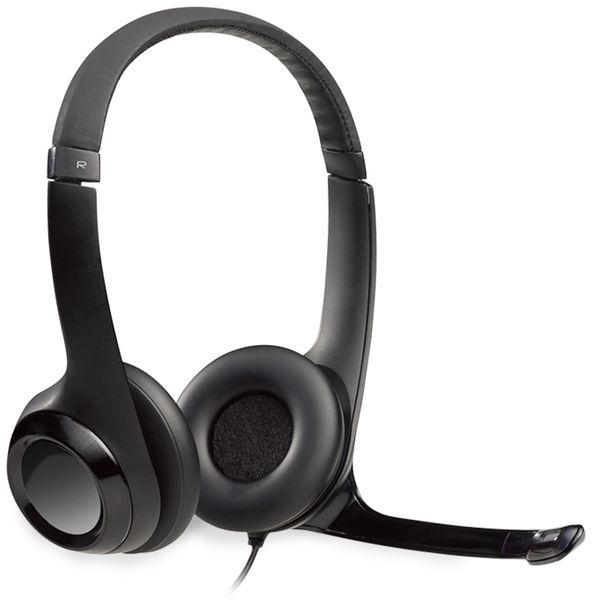 Headset LOGITECH H390, USB, Stereo, schwarz - Produktbild 2