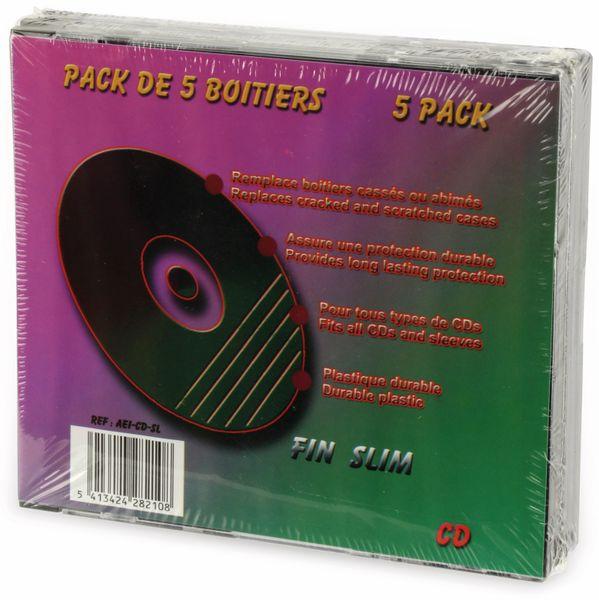 DVD-Leerhüllen LTC, 5er Pack, Slim