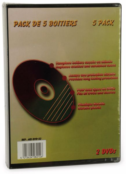 DVD-Leerhüllen LTC, 5er Pack, Doppel - Produktbild 1