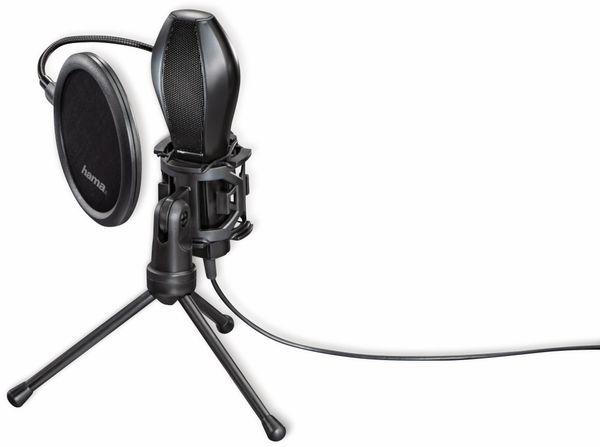 Mikrofon HAMA MIC-USB Stream, Studiodesign, schwarz