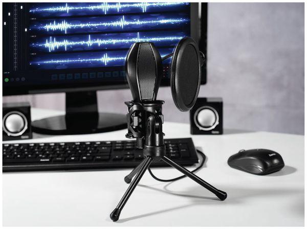 Mikrofon HAMA MIC-USB Stream, Studiodesign, schwarz - Produktbild 3