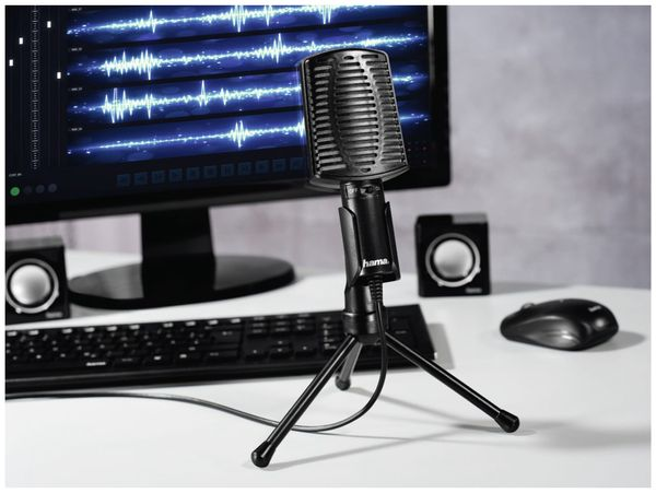 Mikrofon HAMA MIC-USB Allround, Dreibeinstativ - Produktbild 3