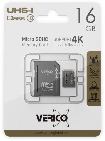 microSDHC Speicherkarte VERICO, 16GB, Class 10, UHS-I, mit Adapter - Produktbild 2