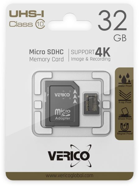 microSDHC Speicherkarte VERICO, 16GB, Class 10, UHS-I, mit Adapter - Produktbild 3