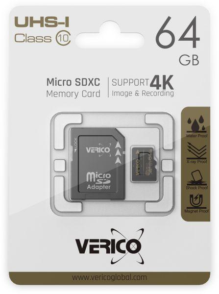microSDHC Speicherkarte VERICO, 16GB, Class 10, UHS-I, mit Adapter - Produktbild 4