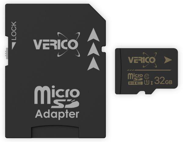 microSDHC Speicherkarte VERICO, 32GB, Class 10, UHS-I, mit Adapter