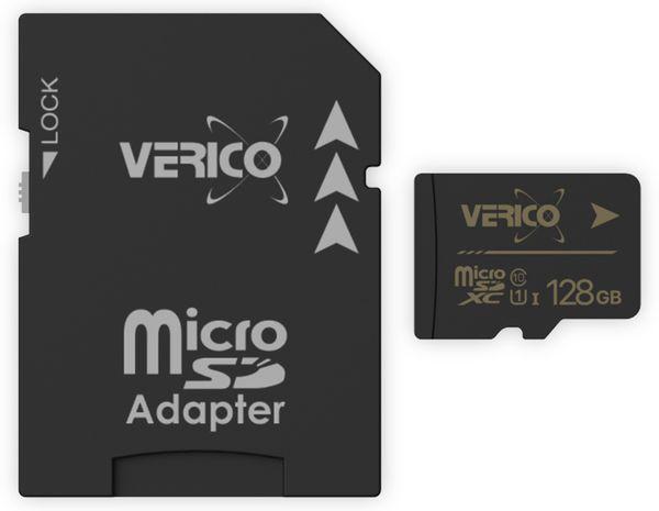 microSDXC Speicherkarte VERICO, 128GB, Class 10, UHS-I, mit Adapter