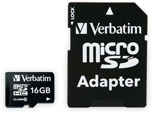 MicroSDHC Card VERBATIM Premium, 16 GB, Class 10, inkl. Adapter