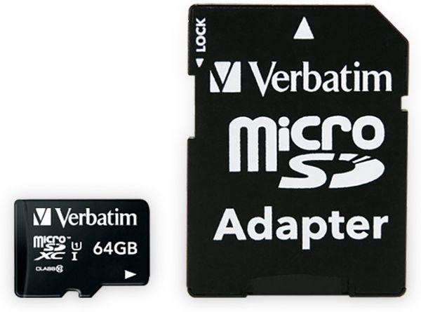 MicroSDXC Card VERBATIM Premium, 64 GB, Class 10, inkl. Adapter