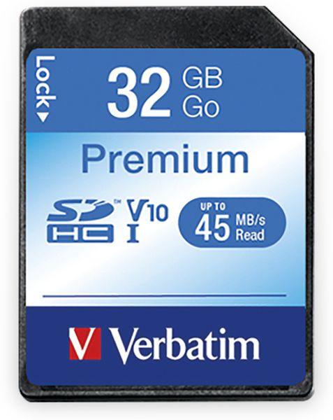 SDHC Card VERBATIM Premium, 32 GB, Class 10