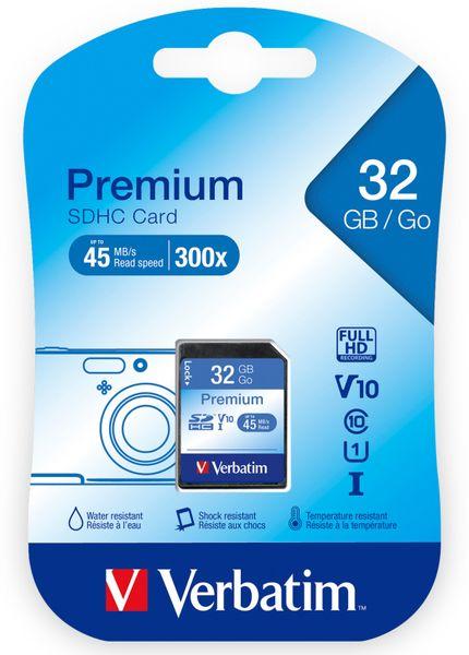 SDHC Card VERBATIM Premium, 32 GB, Class 10 - Produktbild 2