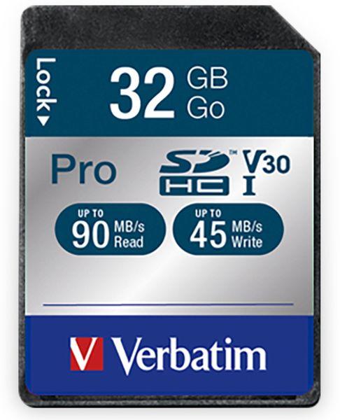 SDHC Card VERBATIM Pro, 32 GB, Class 10
