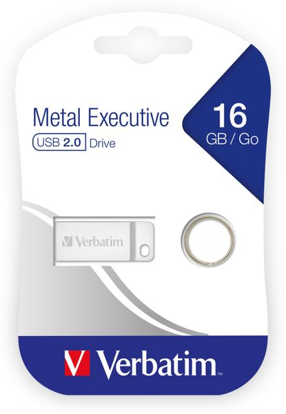 USB2.0 Stick VERBATIM Metal Executive, 16 GB - Produktbild 2