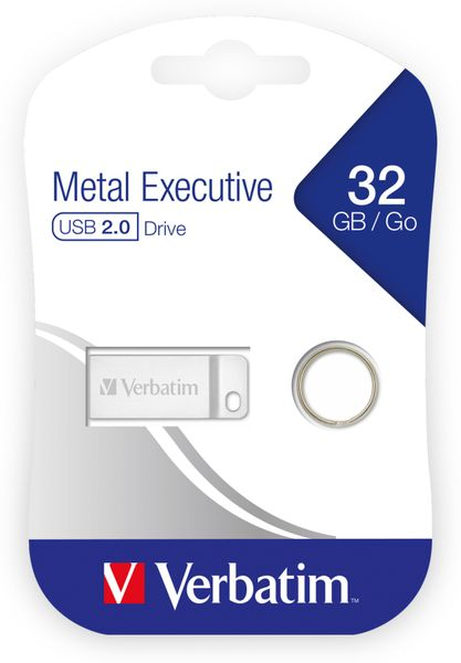 USB2.0 Stick VERBATIM Metal Executive, 32 GB - Produktbild 2