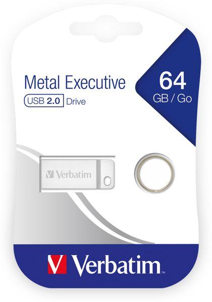 USB2.0 Stick VERBATIM Metal Executive, 64 GB - Produktbild 2