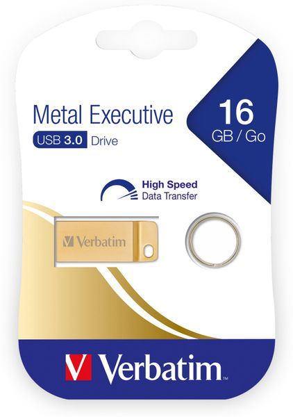 USB3.0 Stick VERBATIM Metal Executive, 16 GB - Produktbild 2