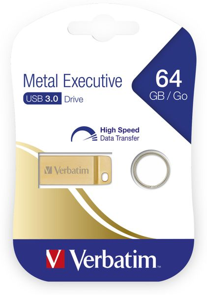 USB3.0 Stick VERBATIM Metal Executive, 64 GB - Produktbild 2