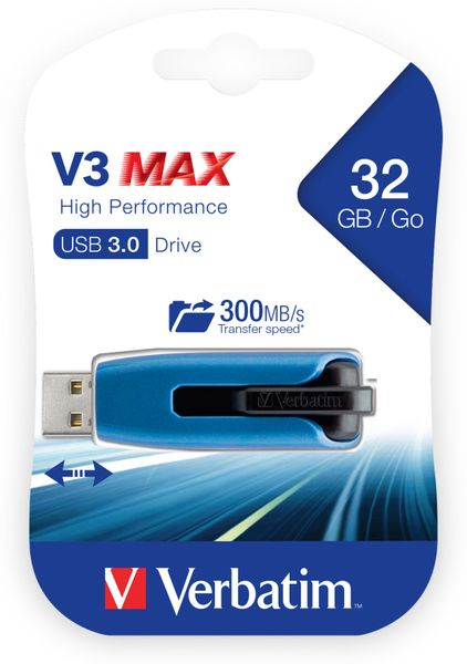 USB3.0 Stick VERBATIM V3 MAX High Performance, 32 GB - Produktbild 2