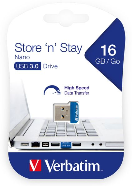 USB3.0 Stick VERBATIM Nano Store´n´Stay, 16 GB - Produktbild 2