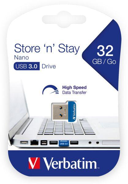 USB3.0 Stick VERBATIM Nano Store´n´Stay, 32 GB - Produktbild 2