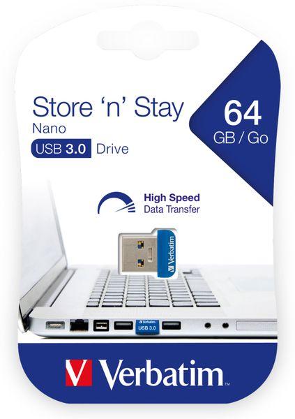USB3.0 Stick VERBATIM Nano Store´n´Stay, 64 GB - Produktbild 2