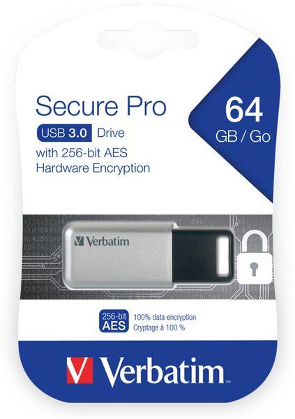 USB3.0 Stick VERBATIM Secure Pro, 64 GB - Produktbild 2