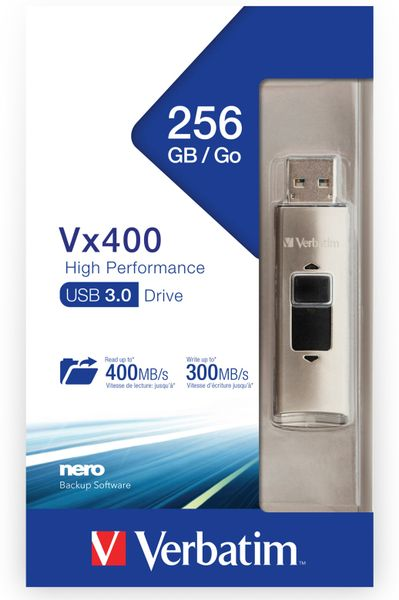 USB3.0 Stick VERBATIM Vx400, 256 GB - Produktbild 2