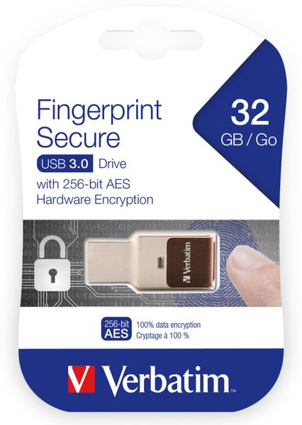 USB3.0 Stick VERBATIM Fingerprint Secure, 32 GB - Produktbild 2