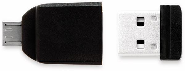 USB 2.0 OTG VERBATIM, 32 GB, mit Micro-B Adapter