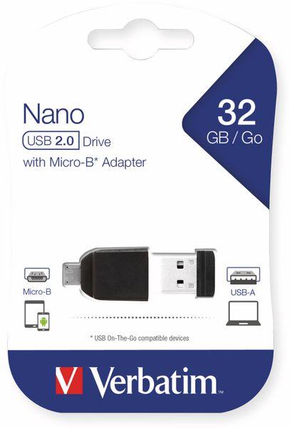 USB 2.0 OTG VERBATIM, 32 GB, mit Micro-B Adapter - Produktbild 2