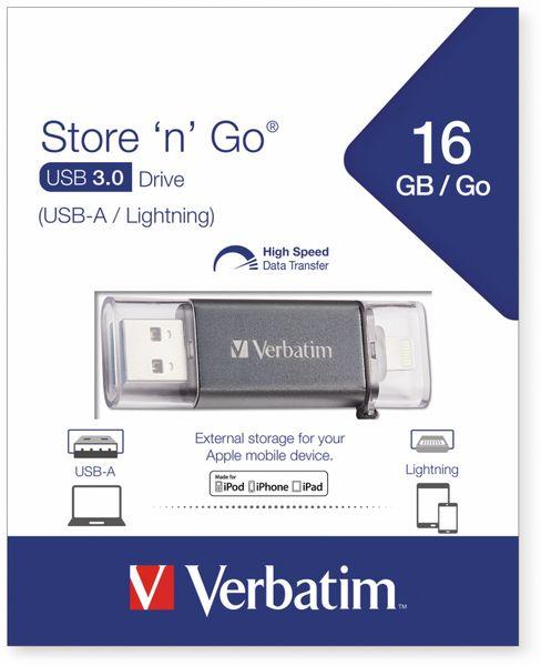 USB 3.0 OTG Stick VERBATIM Store ´n´ Go Lightning, 16 GB - Produktbild 2
