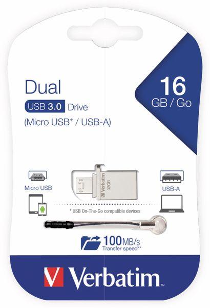 USB 3.0 OTG Stick VERBATIM Typ-A Micro, Dual Drive, 16 GB - Produktbild 2