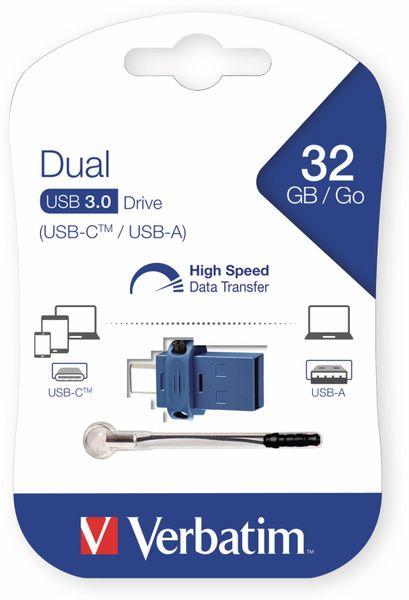 USB 3.0 OTG Stick VERBATIM Typ A-C, Dual Drive, 32 GB - Produktbild 2