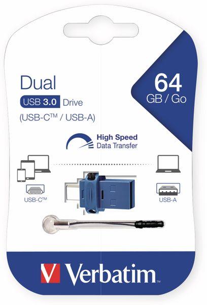 USB 3.0 OTG Stick VERBATIM Typ A-C, Dual Drive, 64 GB - Produktbild 2