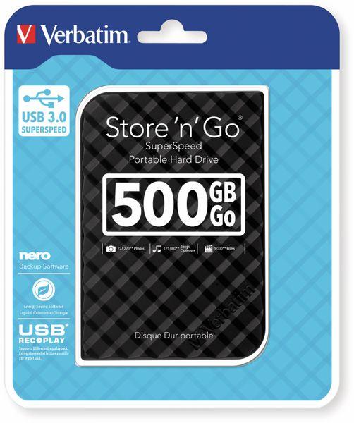 USB3.0 HDD VERBATIM Store´n´Go Gen2, 500 GB, schwarz - Produktbild 2