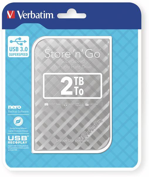 USB3.0 HDD VERBATIM Store´n´Go Gen2, 2 TB, silber - Produktbild 2
