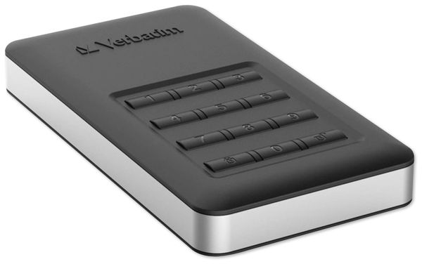 USB3.0 HDD VERBATIM Secure Portable, Keypad, 1 TB, schwarz - Produktbild 3