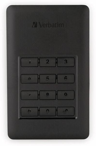 USB3.0 HDD VERBATIM Secure Portable, Keypad, 2 TB, schwarz