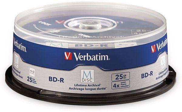 M-Disc VERBATIM BD-R, 25 GB, 25 Stück, Blau-weiß Oberfläche - Produktbild 2