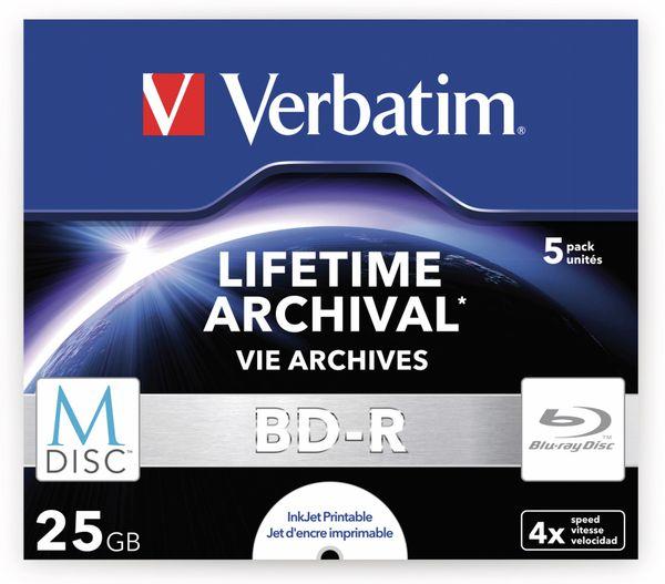 M-Disc VERBATIM BD-R, 25 GB, 5 Stück, Bedruckbar - Produktbild 2