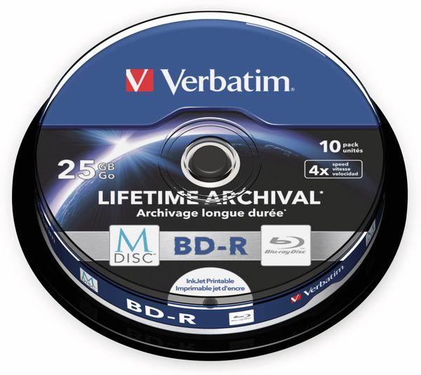 M-Disc VERBATIM BD-R, 25 GB, 10 Stück, Bedruckbar - Produktbild 2