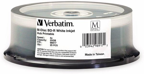 M-Disc VERBATIM BD-R, 25 GB, 25 Stück, Bedruckbar - Produktbild 2
