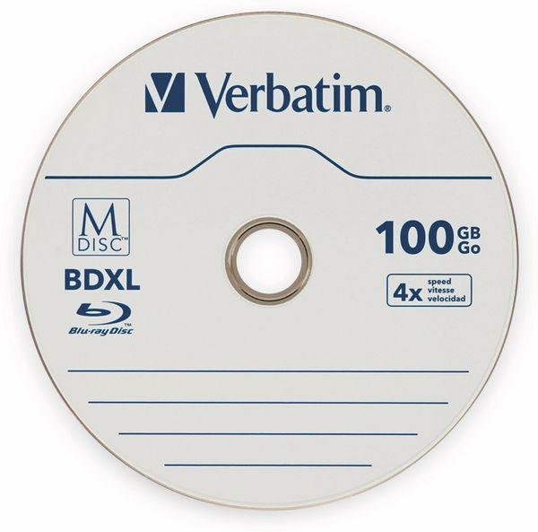 M-Disc VERBATIM BD-R, 100 GB, 1 Stück, Blau-weiß Oberfläche
